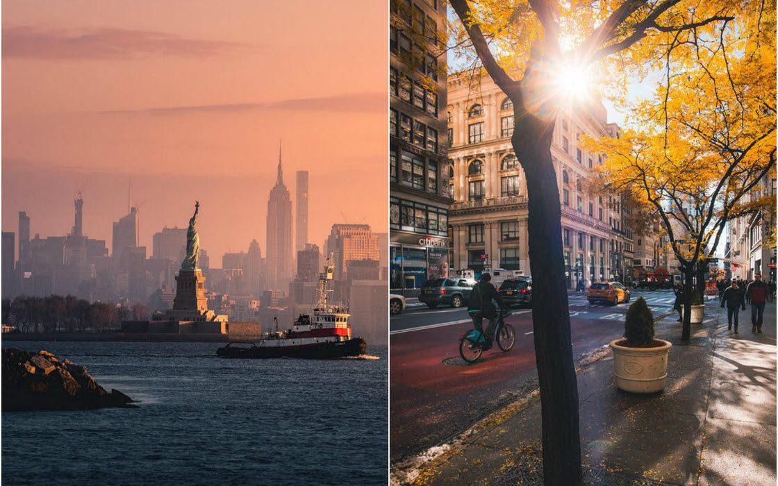 Яркие уличные и городские пейзажи