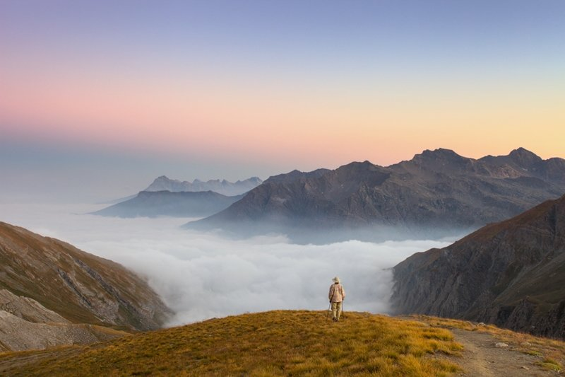 Рядом с границей между Италией и Францией горы, красиво, небо, облака, природа, творчество, фото, фотограф