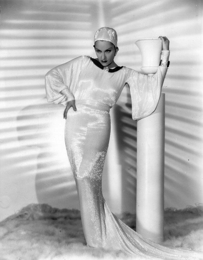 Платья Золотой эры Голливуда, расшитые стеклярусом