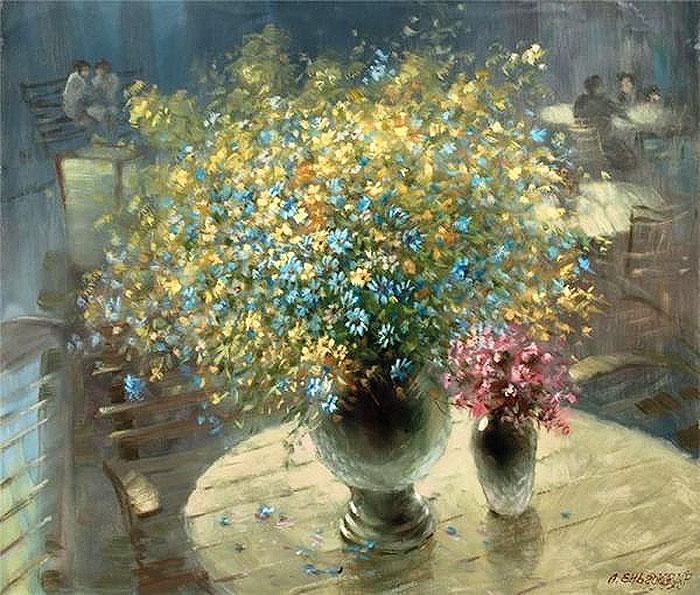 Гимн лету и скромному обаянию луга — цветочные натюрморты Александра Еня