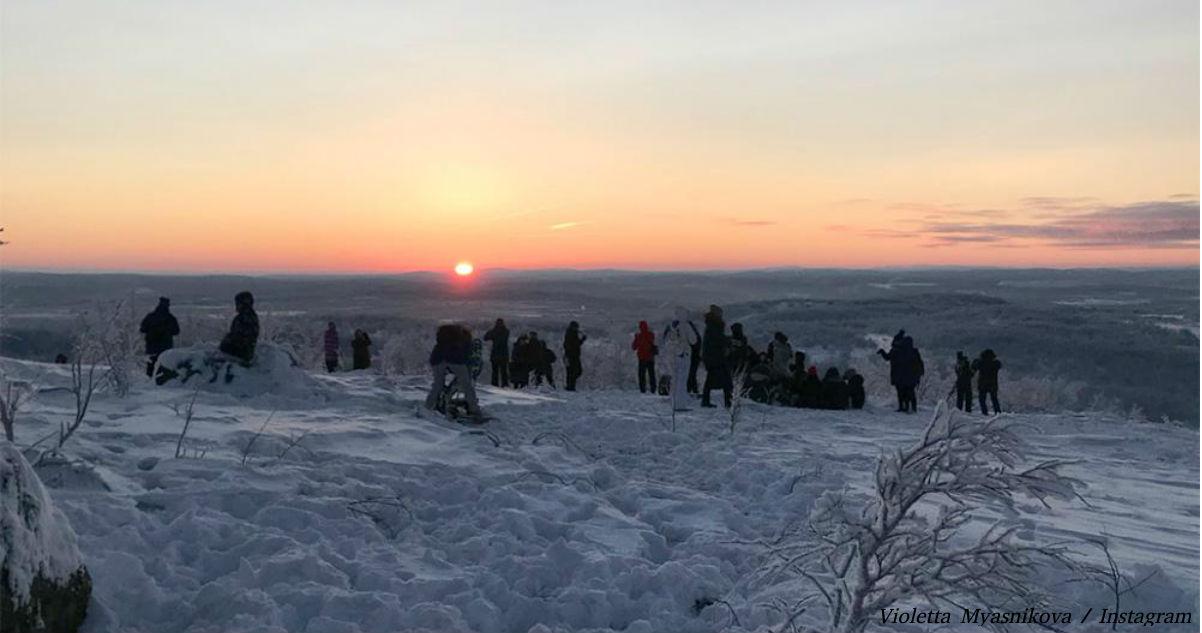 После 40 дней тьмы в этом уголке России наконец-то увидели солнце! Вот как это было