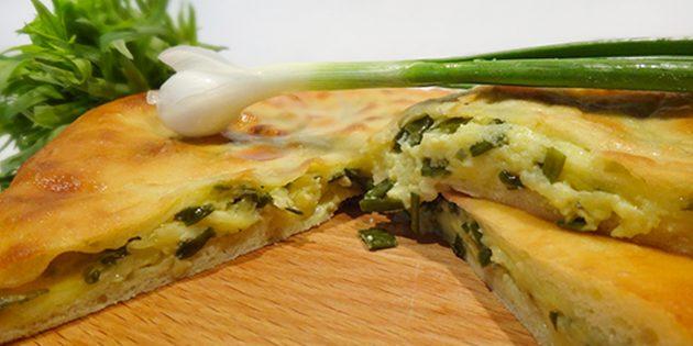 Рецепты: осетинские пироги с сыром и зелёным луком