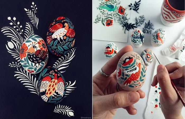 Пасхальные яйца: фольклорные мотивы от художницы из Узбекистана