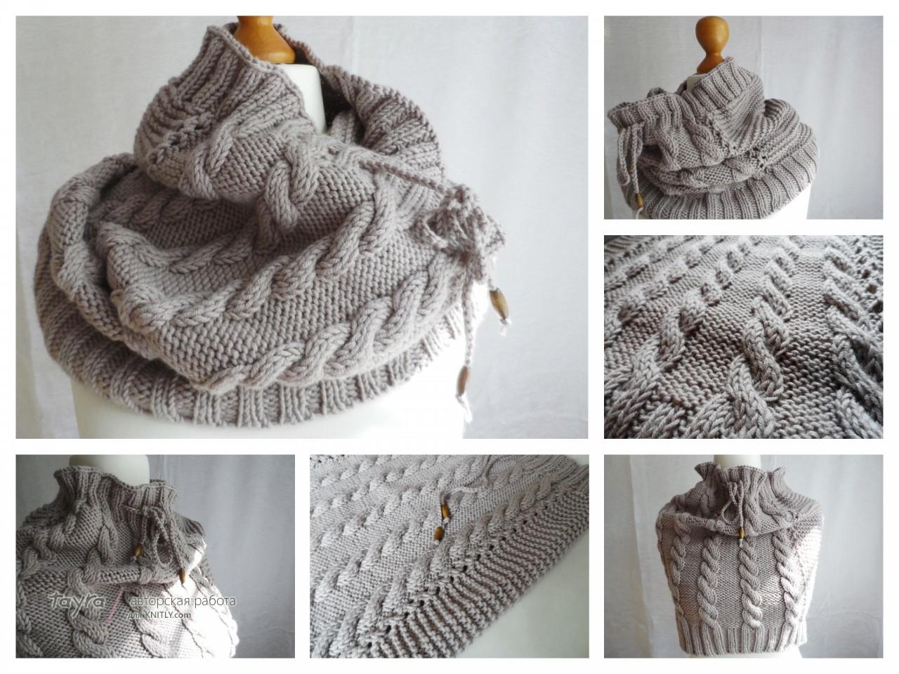 Вязанные шарфы снуды своими руками фото 386