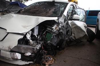В стену дома в центре Москве врезался пьяный автомобилист, пятеро пострадавших