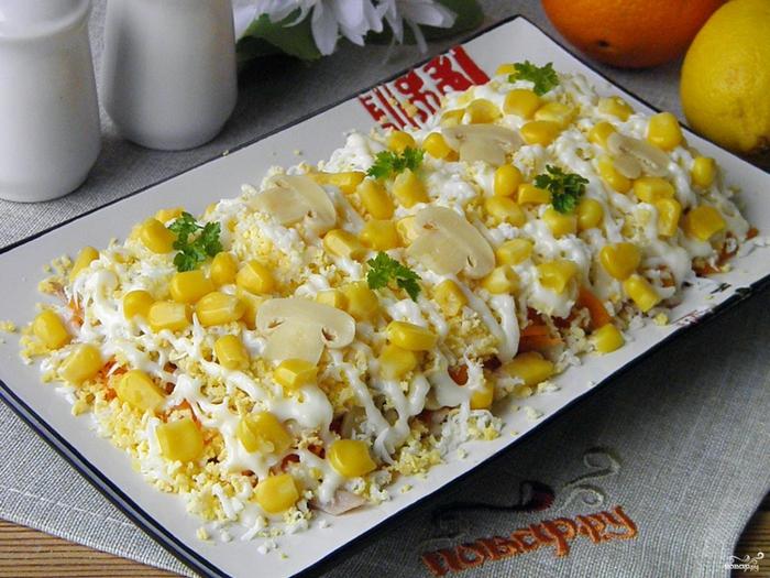Слоеные салаты простые и вкусные без курицы рецепты