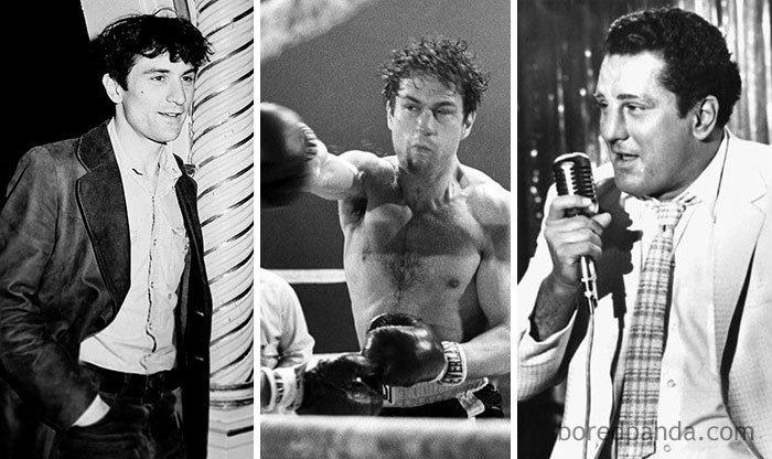 """Роберт Де Ниро, """"Бешеный бык"""" актеры, до и после, интересное, кино, подборка, роли, роли актёров, фильмы"""