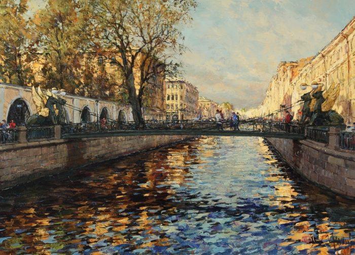 Я вернулся в мой город...Каналы и мосты Петербурга в творчестве художника Кирилла Малькова