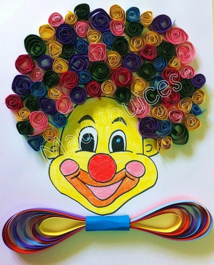 Как сделать клоуна из бумаги своими руками видео