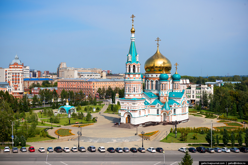 Омску 300 лет. Виды города с высоты