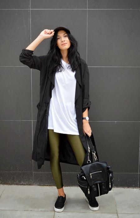 Что носить с кожаным плащом фото