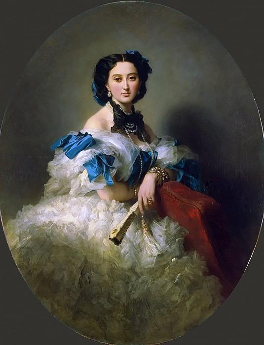 Портрет графини Варвары Алексеевны Мусиной-Пушкиной. 1857 год.