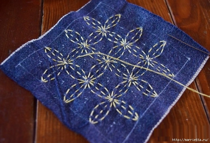 Игольница из джинсов с вышивкой (10) (700x478, 293Kb)