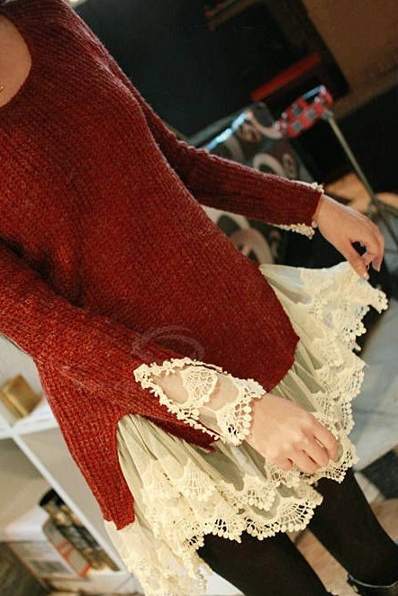Кружево — это женственно… Как сразу преображается обычная одежда!