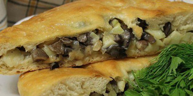 Рецепты осетинских пирогов с грибами и сыром