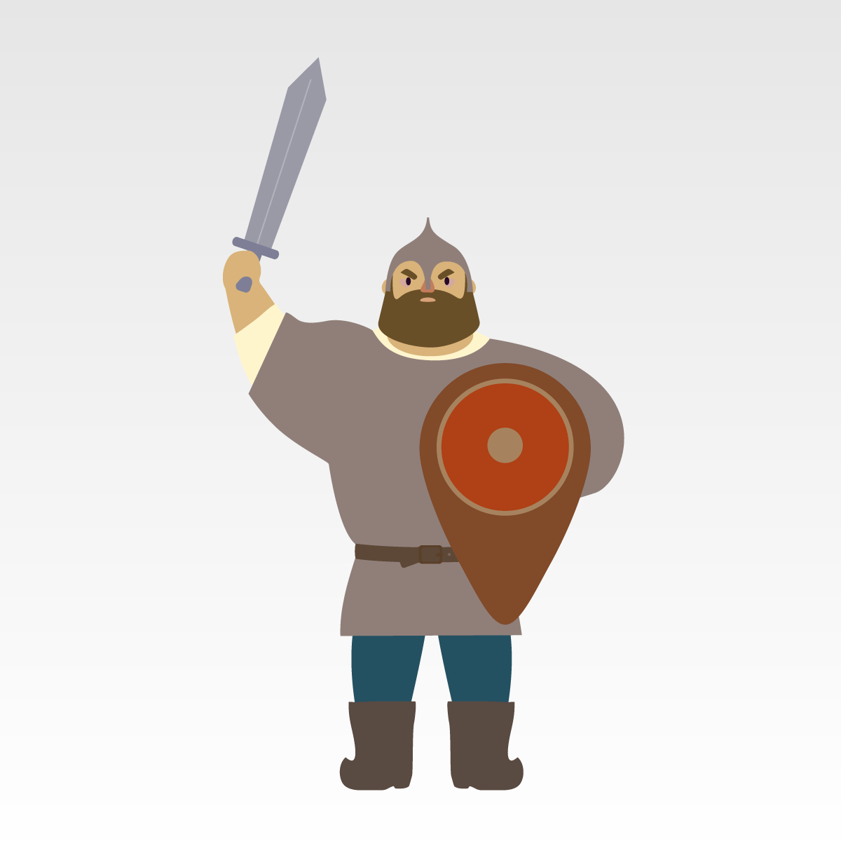 Анекдот о том, как богатырю дали в дорогу меч-кладенец