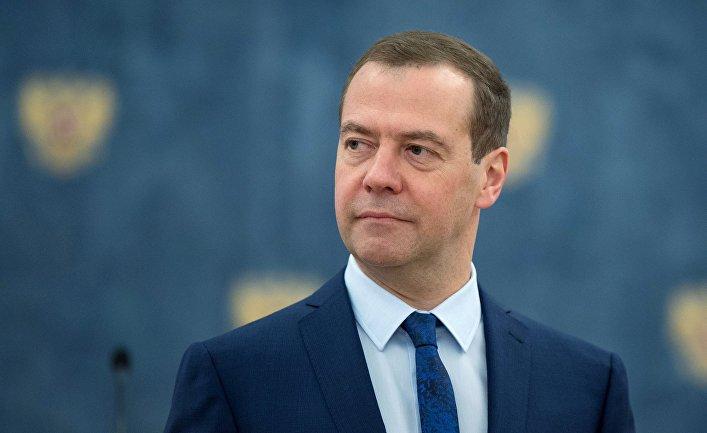 """Носороги и """"Украина"""": Фото кабинета Медведева вызвало переполох"""