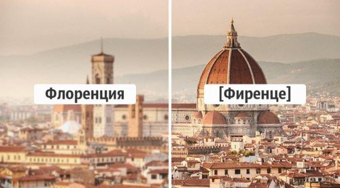 Названия городов на языке местных жителей