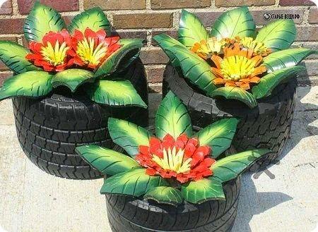 cvety iz pokryshek