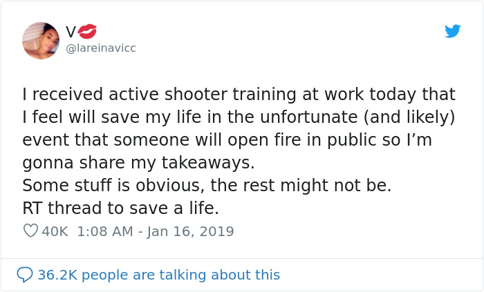 "Teacher Shares Her Training Of ""What To Do In The Case Of An Active Shooter"""