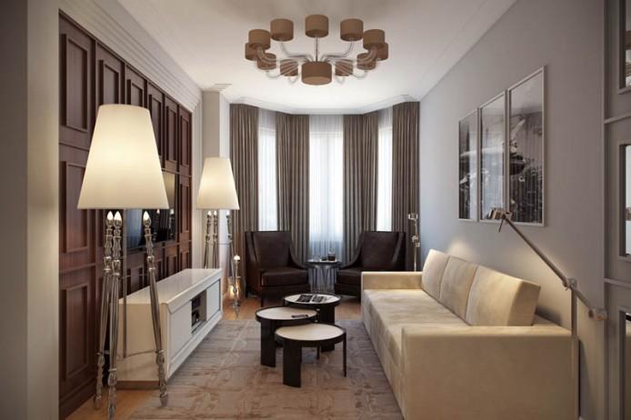 Гостиная комната и столовая