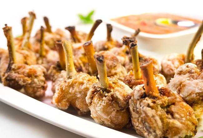разделанные куриные крылышки с кисло-сладким соусом от дундука-кулинара