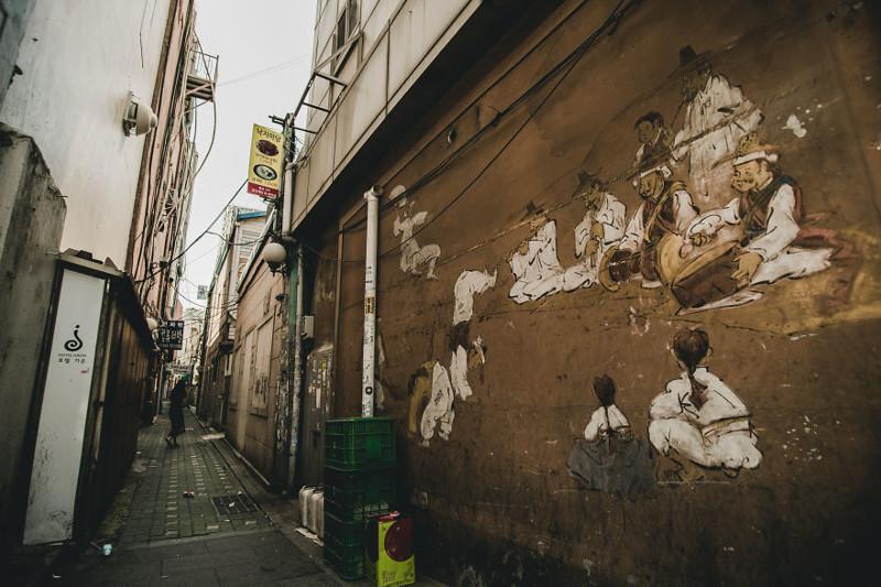 Старые граффити корея, моменты, планета, путешествия, страна, фото, фотограф, южная корея