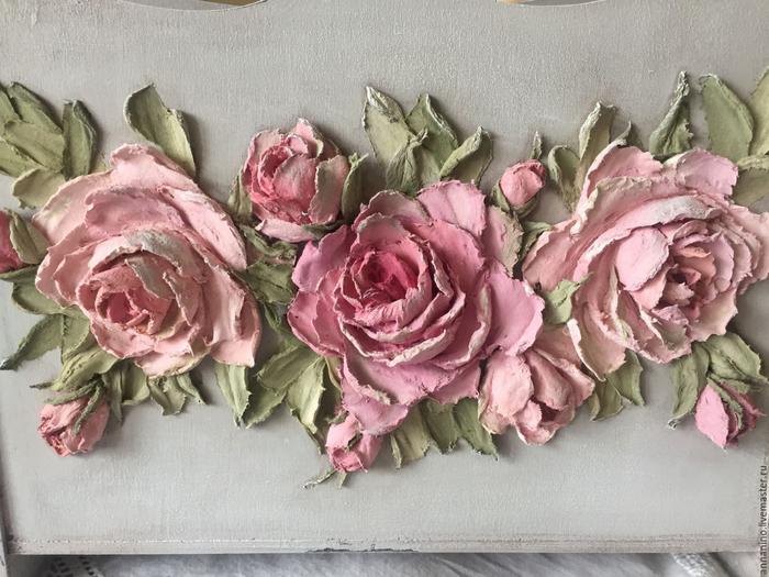 Рельефная живопись декоративной штукартукой