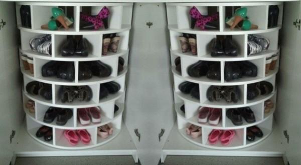 Фото круглой полки для обуви
