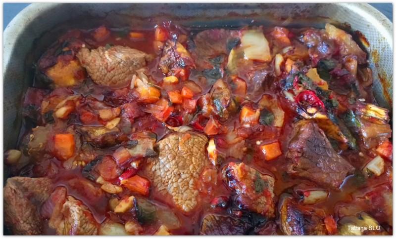 Говядина по мотивам грузинской кухни.