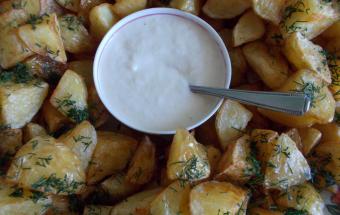 Картофельный гарнир с чесноч…