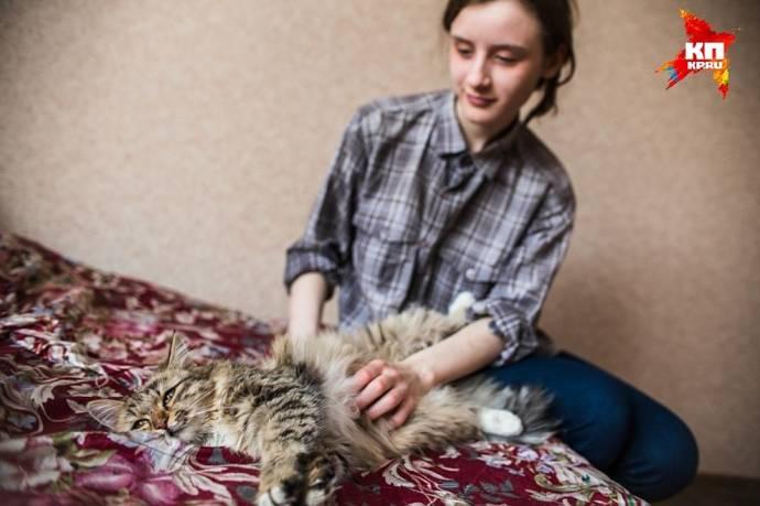 Школьница из Челябинска спасла кошку