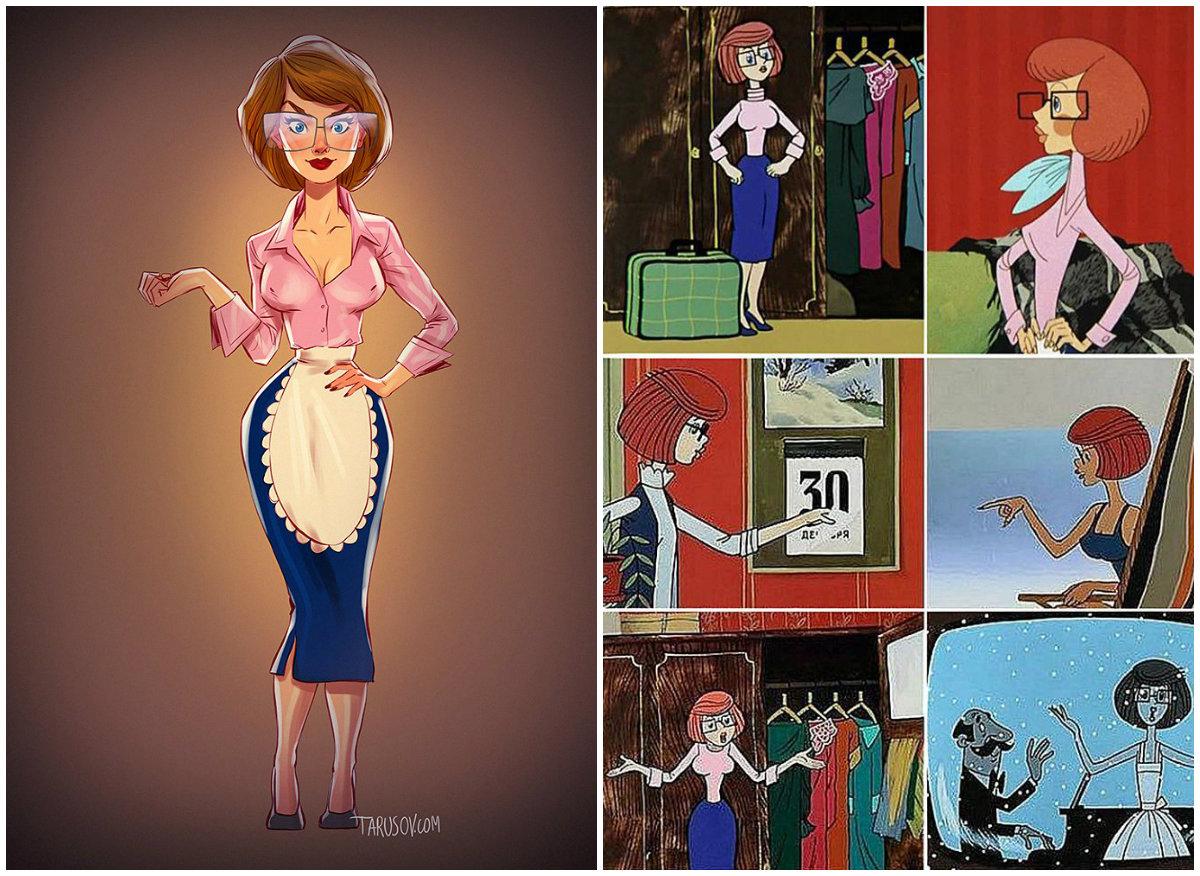 Российский художник эpoтичнo переосмыслил героинь советских мультфильмов