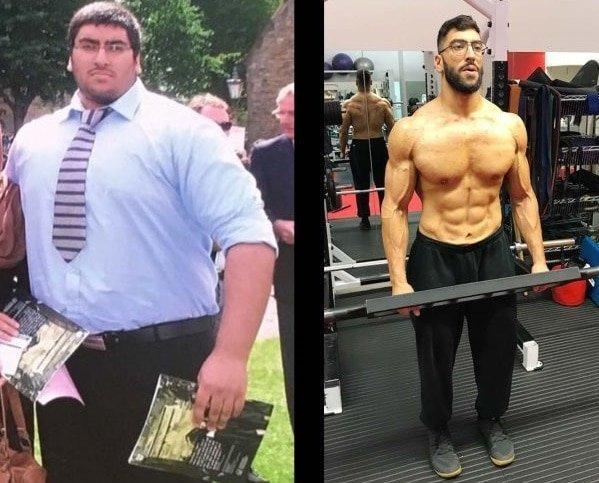 Постепенно Умару удалось похудеть с 177 килограммов до 100 и как следует подкачаться в мире, внешность, жир, люди, похудение, спорт, тело, фигура