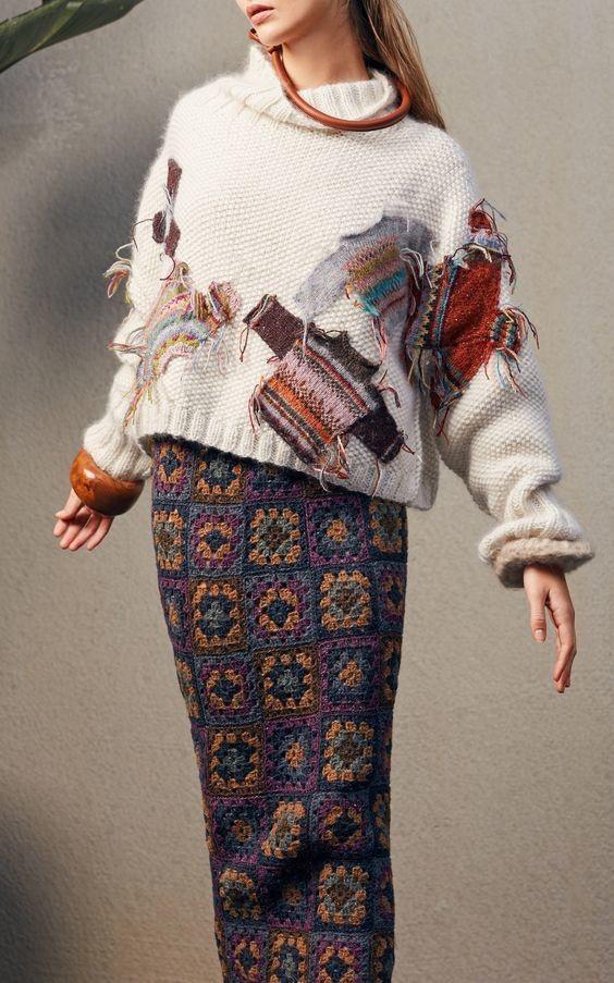 Свитер с заплатами... из свитеров
