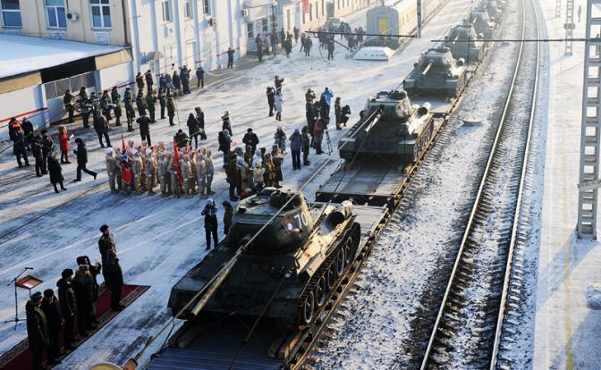 Бутафория с Т-34: Россия салютует танкам производства ЧССР