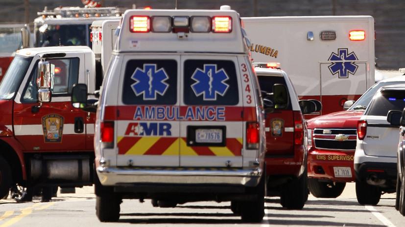 При падении вертолёта США на палубу авианосца пострадали 12 человек