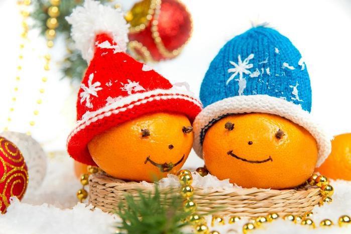 Идеи мандариновых украшений на Новый год!