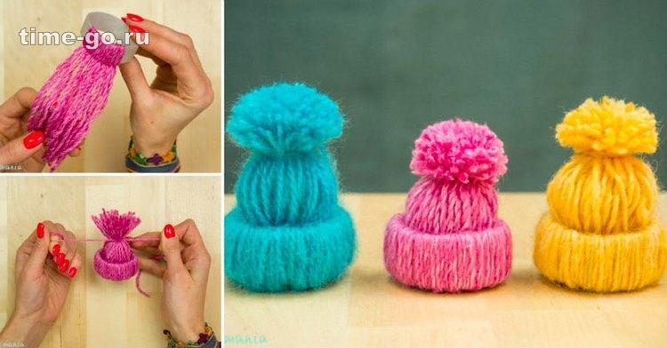Милые ёлочные игрушки-шапочк…