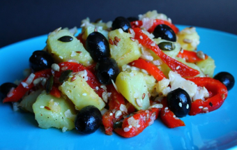 Картофельный салат с болгарским перцем