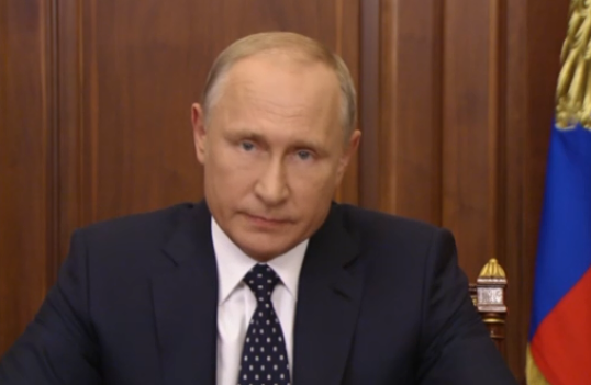 Телеобращение Владимира Путина к россиянам