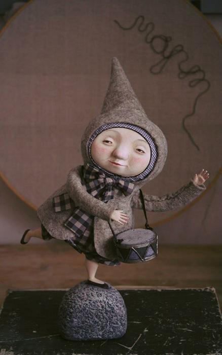 Март. Авторские куклы Марины Глебовой.
