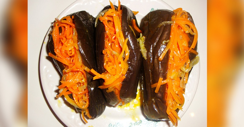 баклажаны с морковью фото