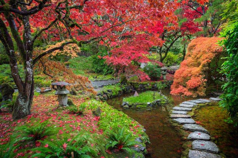 Японские сады Бучарта