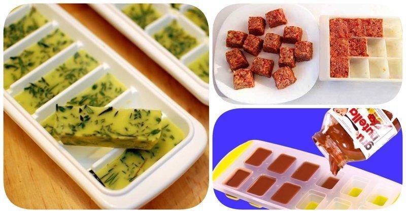 8 полезных идей для кухни: что заморозить в формочке для льда?
