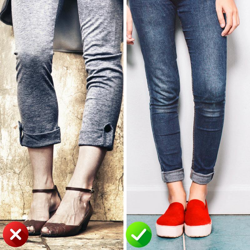 Поношенная обувь и новая
