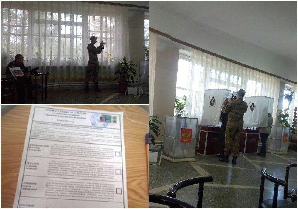В Хабаровске «давление» на солдата-избирателя оказалось согласованной съемкой для стенгазеты