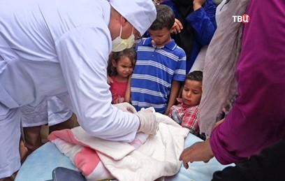 Российские врачи осмотрели 200 человек в сирийской провинции Алеппо