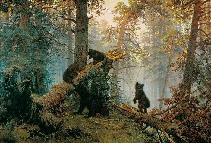 Утро в сосновом лесу. И. Шишкин. 1889. | Фото: allpainters.ru.