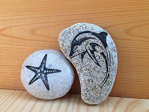 Способ простого и быстрого переноса изображения на морской камешек. Видео мастер-класс